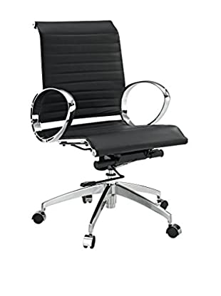 Modway Ribbed Mid Back Office Chair, Black
