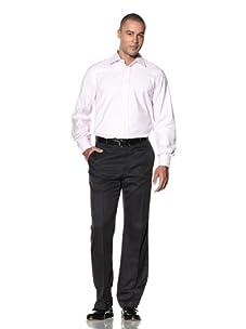 Yves Saint Laurent Men's Royal Italian Collar Dress Shirt (Pale Pink)
