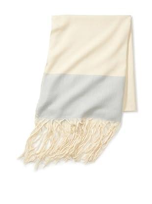 Mili Designs Women's Marrakesh Cotton Scarf (Cream/Blue)