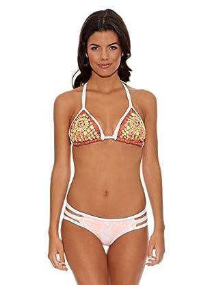 Agua Bendita Bikini Triángulo Bordado Diva (Multicolor)