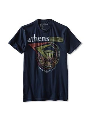 Kinetix Men's Athens Crew Tee Shirt (Navy)