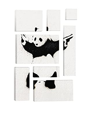 Banksy Panda With Guns 8-Piece Giclée On Canvas
