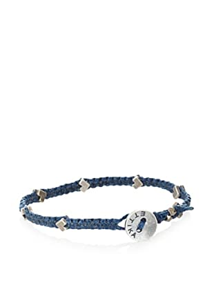 Ettika Men's Blue Mini Chevron Bracelet