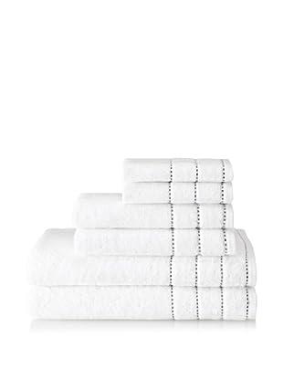 Espalma Heath 6-Piece Towel Set (White/Black)