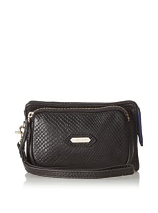 Hayden Harnett Women's Pilot Clutch, Black Cobra