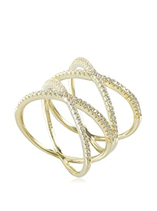 Jardin Double Pave Criss Cross Ring