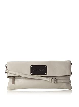 L.A.M.B. Women's Barri Cross-Body Fold Over, Grey