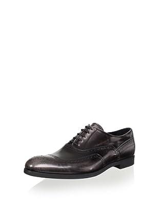 Prada Men's Oxford Patch Design Lace Up (Dark Grey)