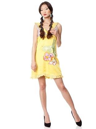 Custo Vestido Cruch (Amarillo)