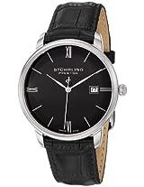 "Stuhrling Prestige Men's 307L.33151 ""Prestige"" Swiss-Made Watch with Ultra-Slim Black Leather Band"