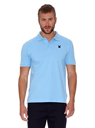 Polo Club Polo Custom Fit Escudo Liso (Azul Celeste)