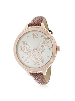 Via Nova Women's NWL295611Q-BR Brown/White Leather Watch