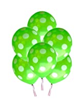 GrandShop 50298 Balloons Polka Dot Extra Large 12 Inch Green (Pack of 25)
