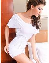 Retro Short Zipper Sleeve White Mini Dress