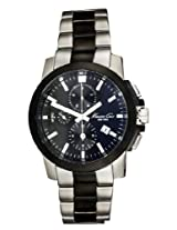 Kenneth Cole Chronogragh Black Dial Stainless Steel Men's Watch IKC9099