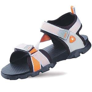 Sparx Sandals Womens Grey Orange SS-105