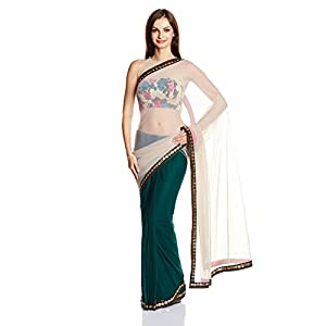 Kanika Kedia Designer Sequinned Sari with Blouse Piece