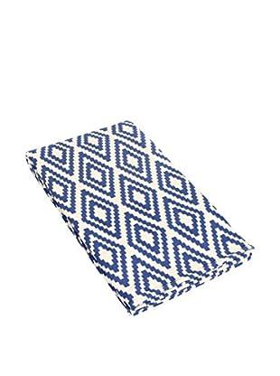Glam Home Teppich Nirmal weiß/blau