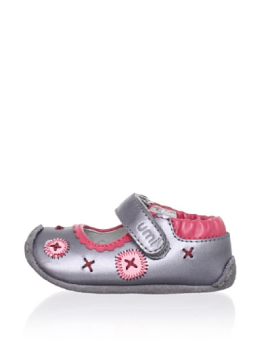 umi Marlane Mary Jane Crib Shoe (Infant/Toddler) (Pewter)
