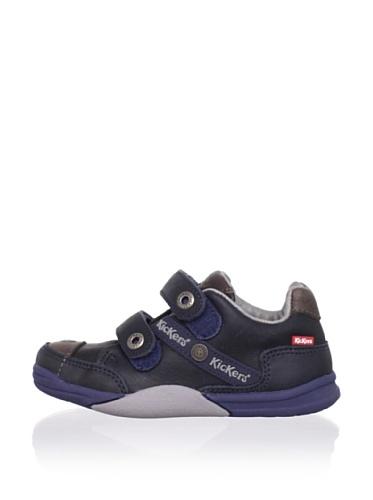 Kickers Kid's Tiboo Sneaker (Little Kid) (Dark Blue/Grey)