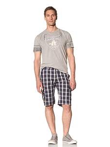 Fresh Men's Plaid Cargo Short (Blue)