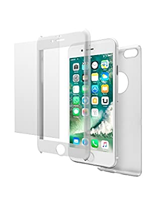 UNOTEC Carcasa 2 Piezas Pack Full Protect iPhone 7 Plus Blanco