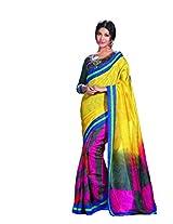Bhavi Printed Kantha Silk Sari