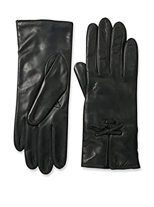 Portolano Women's Leather Gloves with Bow Tie (Shale)