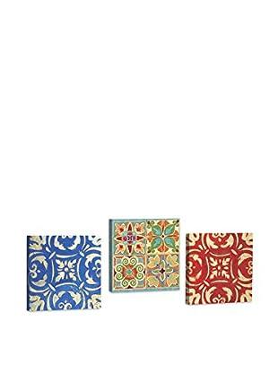 Dekorjinal Set, 3-teilig dekoratives Bild Ahm037 (mehrfarbig)