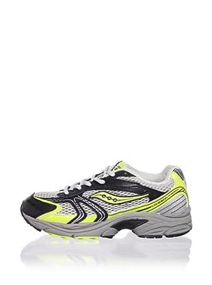 Saucony Kid's Cohesion 4 LTT Athletic Shoe (Toddler/Little Kid/Big Kid) (Grey/Green)