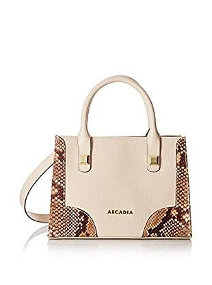 Arcadia Borsa A Mano Beige/Arancione