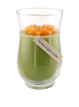 Northern Lights 18-Oz. Black Eyed Susan Floral Vase Candle
