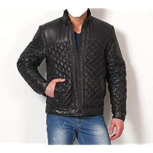 Canary London Black Quilted Men Jacket CLJK 0707