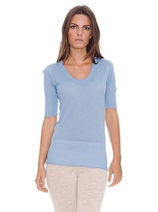 American Vintage Camiseta Nevada (Azul Cielo)