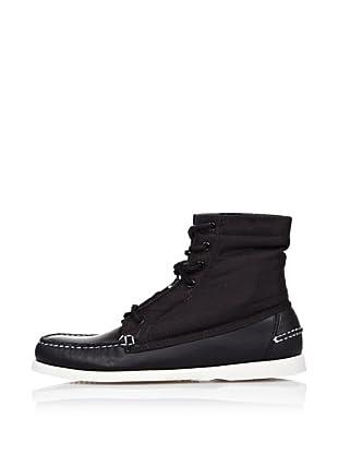 Sebago Zapato Botín Interior Charol (Negro)