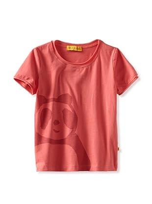 Zolima Panda Girl's T-Shirt (Papaya Red)