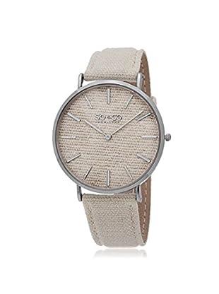 SO&CO New York Unisex SoHo Metal Watch, Ivory