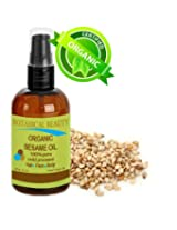 Botanical Beauty Organic Sesame Oil, 100% Pure, Cold Pressed. For Face, Hair And Body. 1 Oz 30 Ml