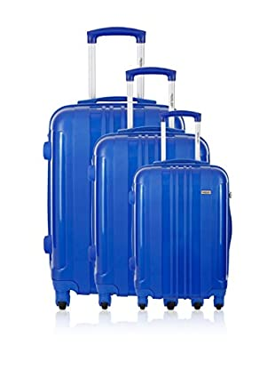 Travel ONE Set de 3 trolleys rígidos Barnley Azul