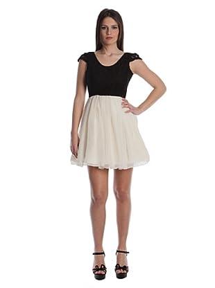 Rare Vestido Raleigh (Negro / Crema)