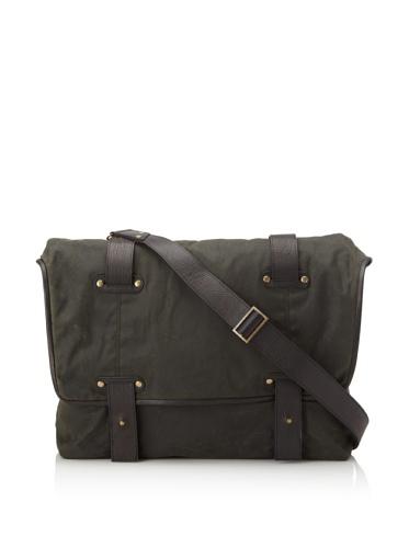 Be&D Men's Marco Messenger Bag (Dark Green/Black)