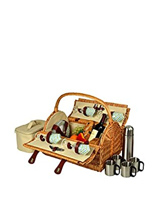 Picnic at Ascot Yorkshire Picnic Basket for 4 with Coffee Set, Wicker/Gazebo