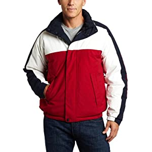Nautica Men's Clr Block Reversible Bomber Jacket