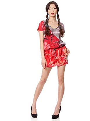 Custo Barcelona Kleid Liang (Rot/Grau)