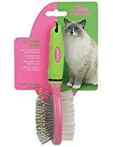 u•groom Bristle/Pin Cat Combo Brushes - All-Purpose Brushes for Cat Grooming, 7""