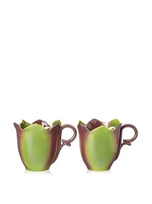 Mustardseed and Moonshine Set of 2 Mug Trillium Wake Robin
