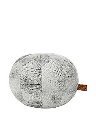 HAWKE & THORN Puff Hudson Round nSquare Leather MARBLE GREY