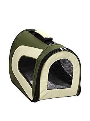 Pet Life Zippered Sporty Mesh Carrier (Green)