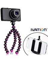 Gorillapod Flexible Tripod (Black/Fuchsia) For Small & Compact Cameras and for the Samsung Galaxy Note 2, Note 3, Note 4, Amazon Fire Phone and for Most Smartphones