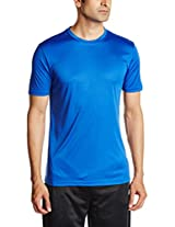 Nivia Fitness Tees Men's, Small (Navy Blue)